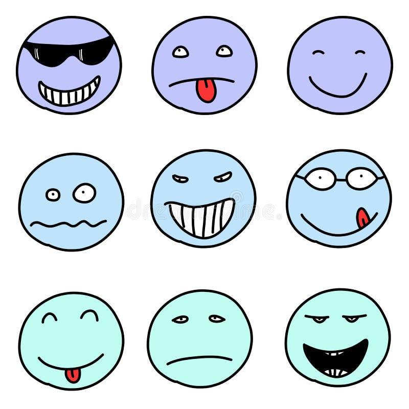 Emoticons иллюстрация штока