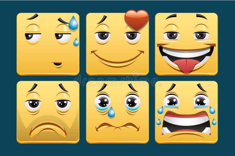 Emoticons ilustração royalty free