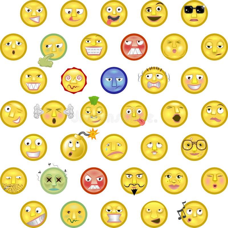 emoticons vektor illustrationer