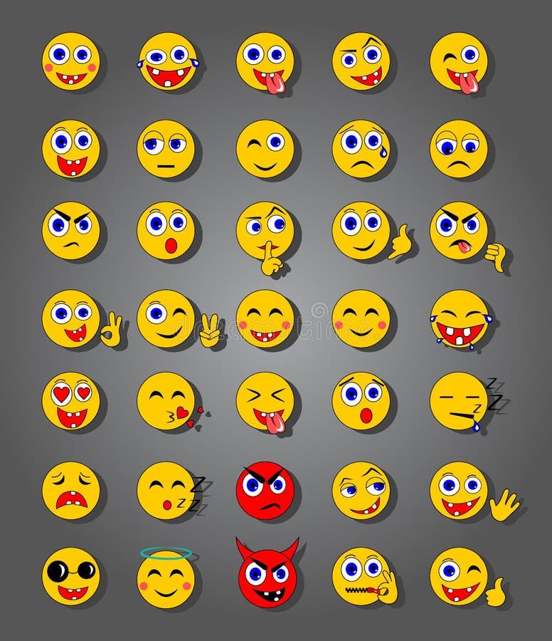 35 Emoticons royalty ilustracja