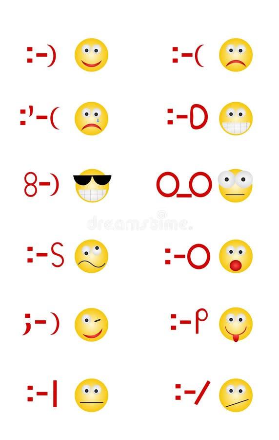Emoticons vector illustration