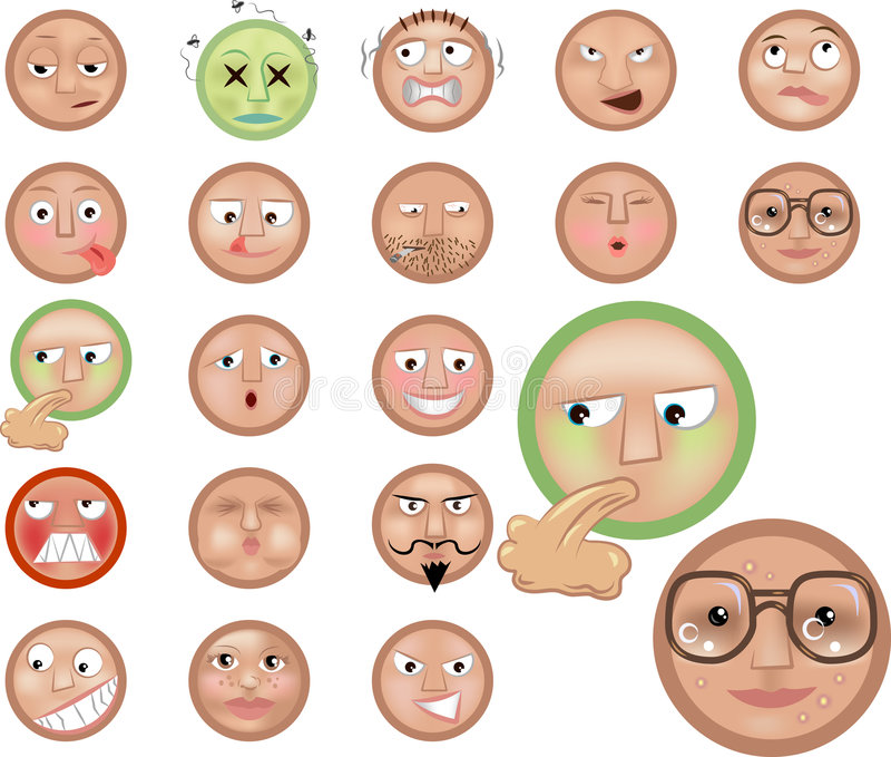 Emoticons stock abbildung