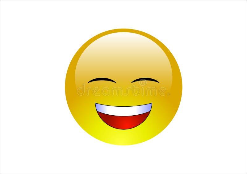 Emoticons del Aqua - risa stock de ilustración