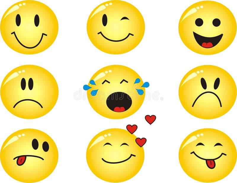 Emoticons di vettore immagini stock libere da diritti