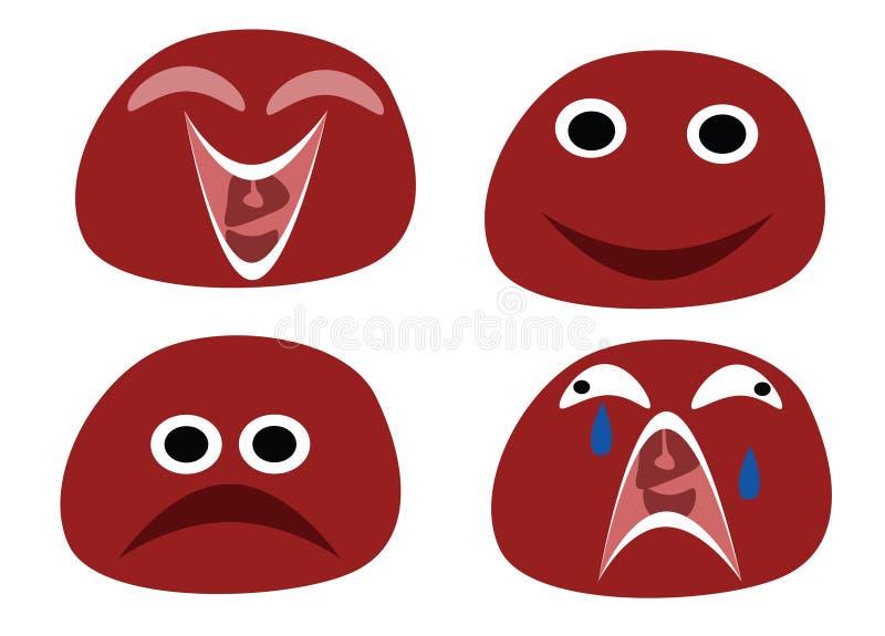 Emoticons divertidos stock de ilustración