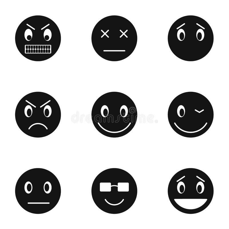 Emoticons dla wiadomości ikon ustawiają, prosty styl royalty ilustracja