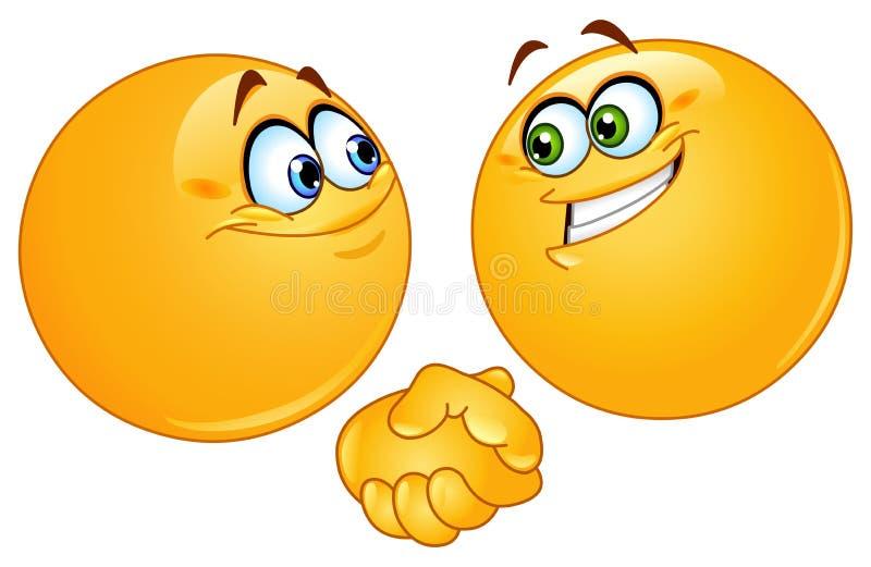 Emoticons do aperto de mão