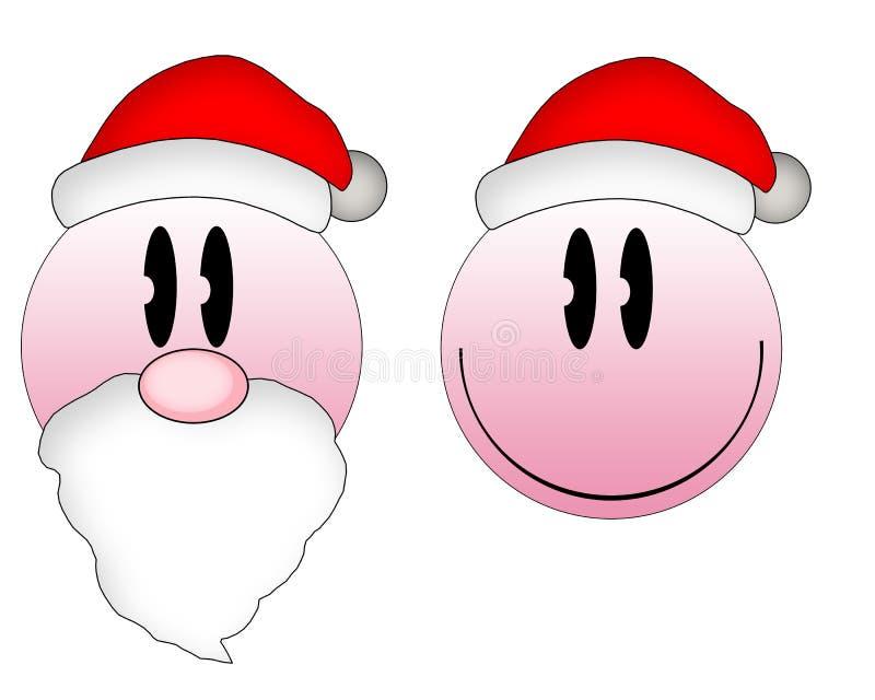 Emoticons do Natal foto de stock