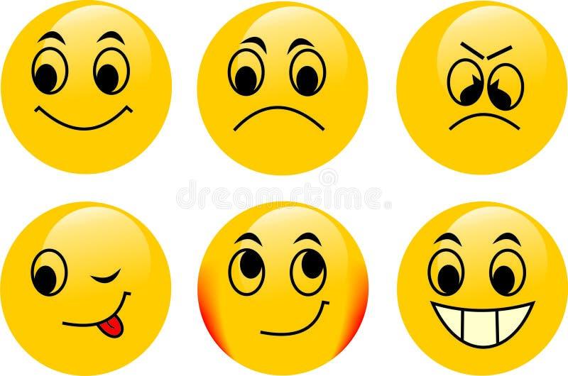 Emoticons do vetor fotos de stock royalty free