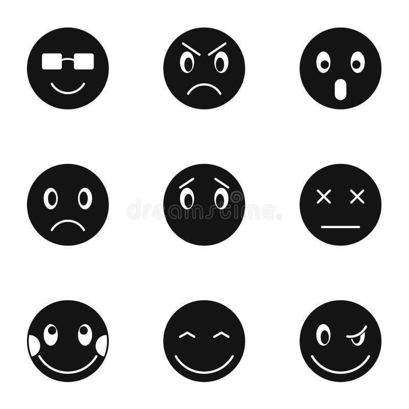 Emoticons ikony ustawiać, prosty styl ilustracji