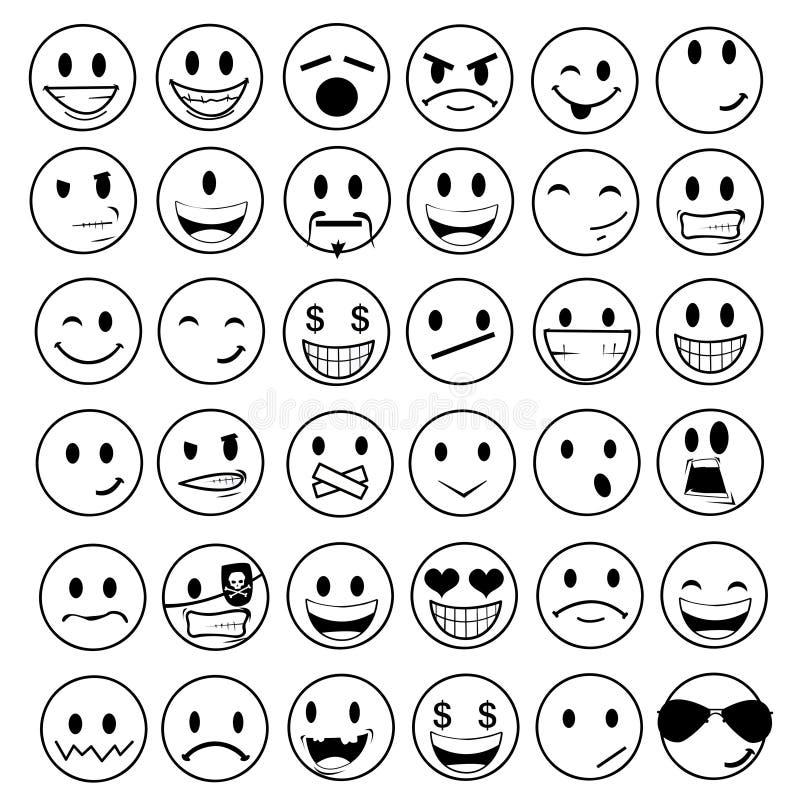 Emoticons lucidi royalty illustrazione gratis