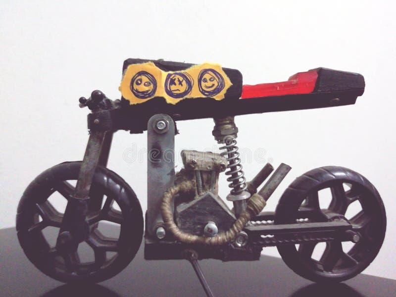 Emoticons miniatures of handmade motorcycles. Emoticons miniatures handmade motorcycles custom stock photos
