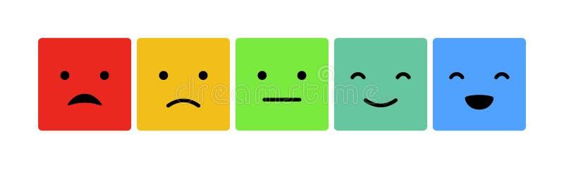 Emoticons mood scale on white background royalty free illustration