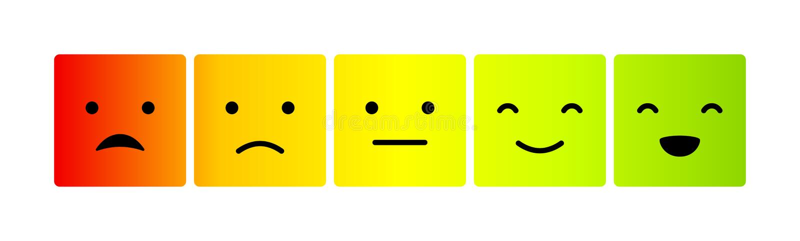 Emoticons nastroju skala royalty ilustracja