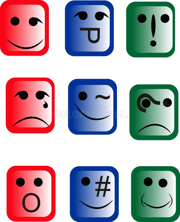 Free Emoticons Of A Different Design Royalty Free Stock Images - 8232149
