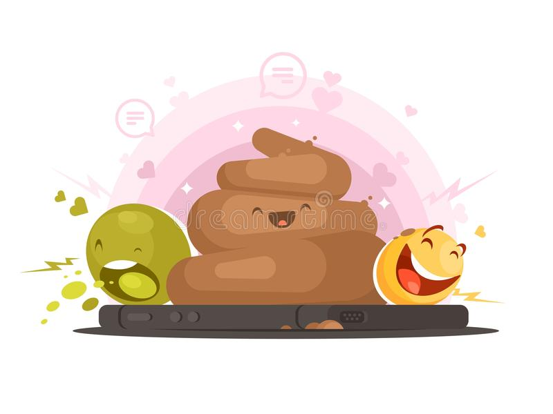 Emoticons postać z kreskówki ilustracji