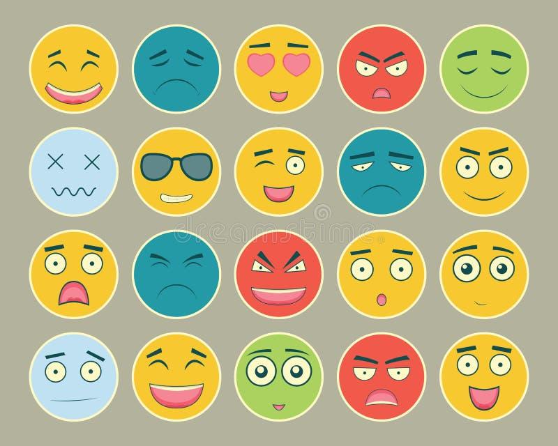 Download Emoticons Sänker Designuppsättningen Emoticon För Webbplatsen, Pratstund, Sms Emoticonssymboler Vektor Vektor Illustrationer - Illustration av iconography, emoticon: 78730152