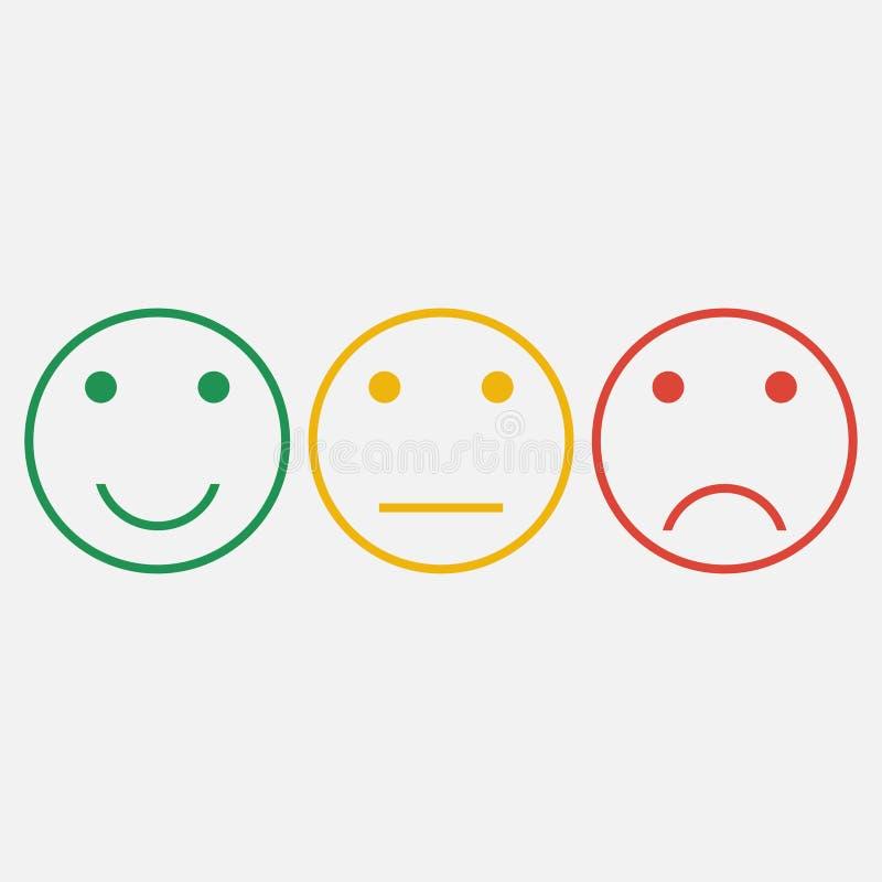 emoticons Set smiley linii ikony ilustracji