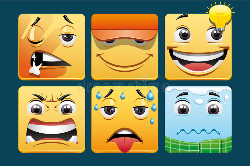 Emoticons Stock Photography