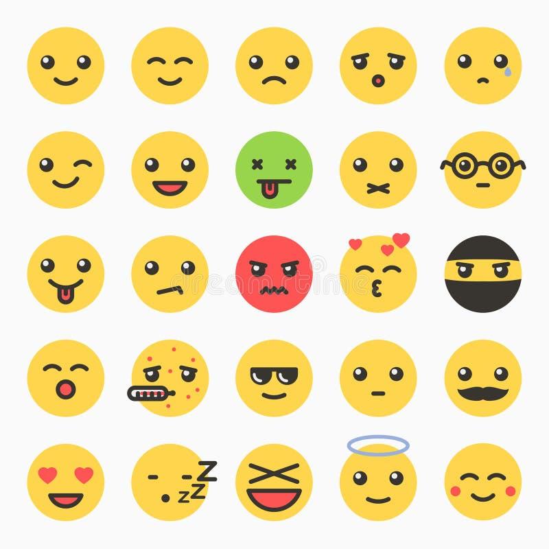Emoticons set, yellow website emoticons royalty free illustration