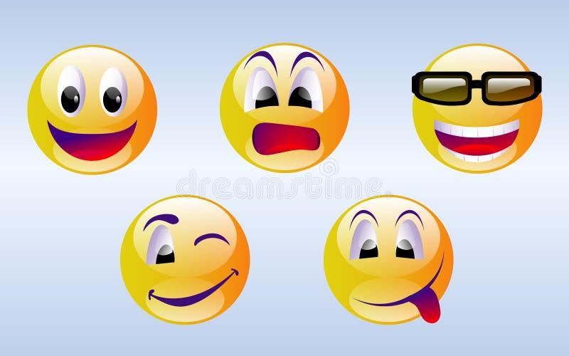 emoticons smiley προσώπου στοκ εικόνες με δικαίωμα ελεύθερης χρήσης