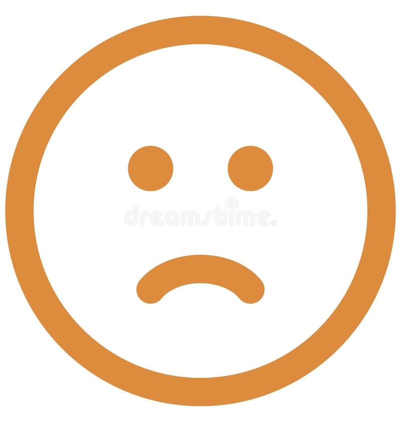 emoticons, smiley Wektorowa Odosobniona ikona kt?ra mo?e ?atwo redagowa? lub modyfikowa? royalty ilustracja