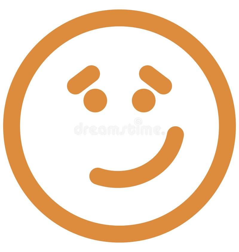 emoticons, szcz??liwa smiley Wektorowa Odosobniona ikona kt?ra mo?e ?atwo redagowa? lub modyfikowa? ilustracji