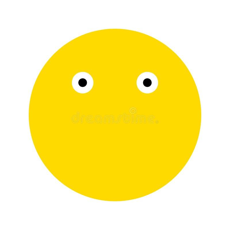 Emoticons uśmiechu ikona royalty ilustracja
