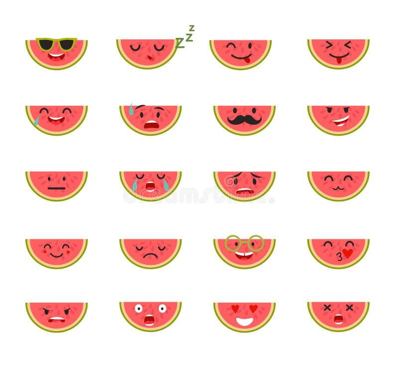 Emoticons wektoru karmowy set royalty ilustracja