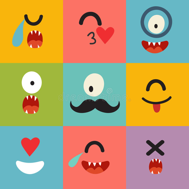 Emoticons wektoru wzór royalty ilustracja