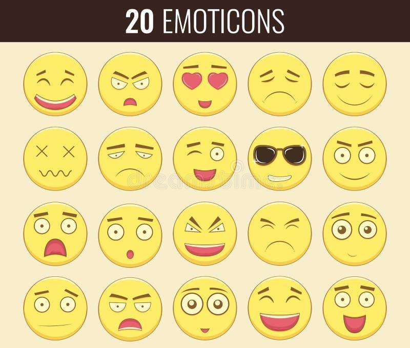 Download Emoticonuppsättning Emoticon För Webbplatsen, Pratstund, Sms Modern Plan Design Vektor Vektor Illustrationer - Illustration av illustration, sinnesrörelse: 78730099
