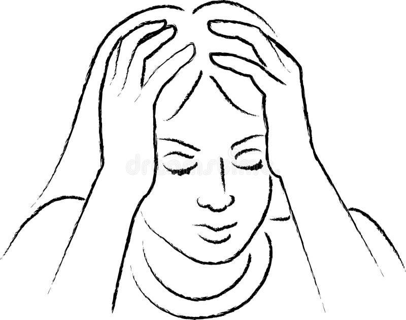 Emotie 2 stock illustratie