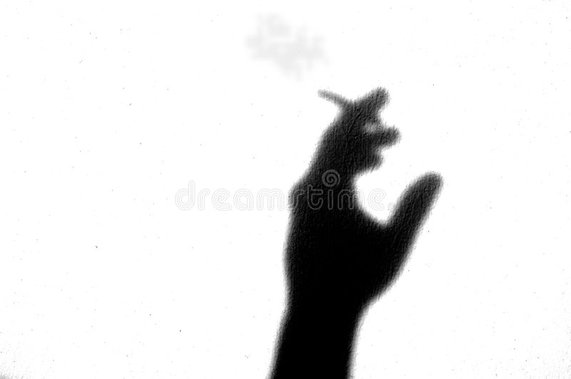 Emotie shadowl - roker stock foto
