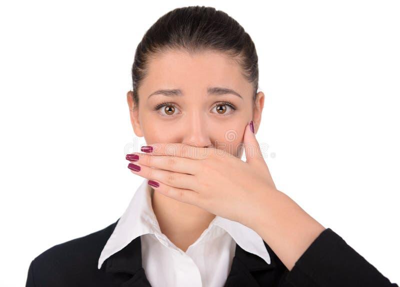 Emoties Bedrijfsvrouw royalty-vrije stock foto's