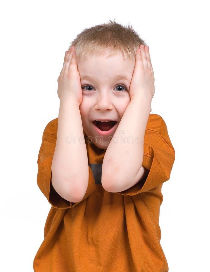 Emoties van de jongen royalty-vrije stock foto