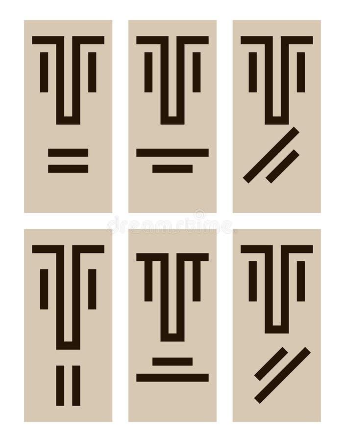 Emotiespictogrammen royalty-vrije illustratie