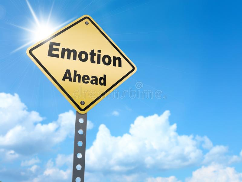 Emotion ahead sign royalty free illustration