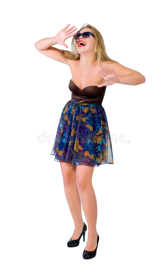 Download Emotion Of The Beautiful Girl Isolated Stock Image - Image: 15735731