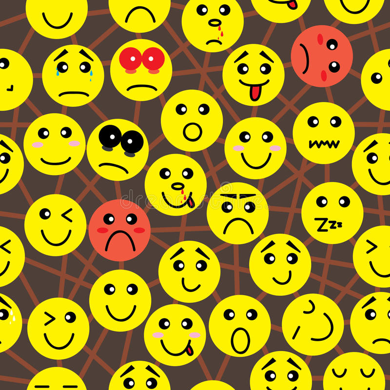 Emotion Connection Seamless Pattern_eps Stock Photo