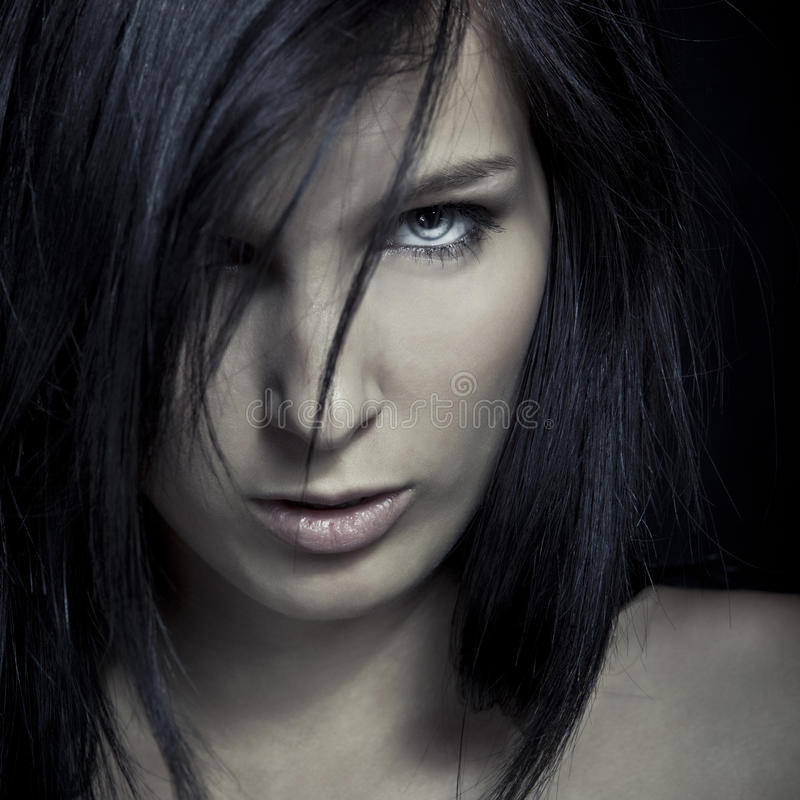 Download Emotion Expression Dark Girl Face Stock Photo - Image: 24553584