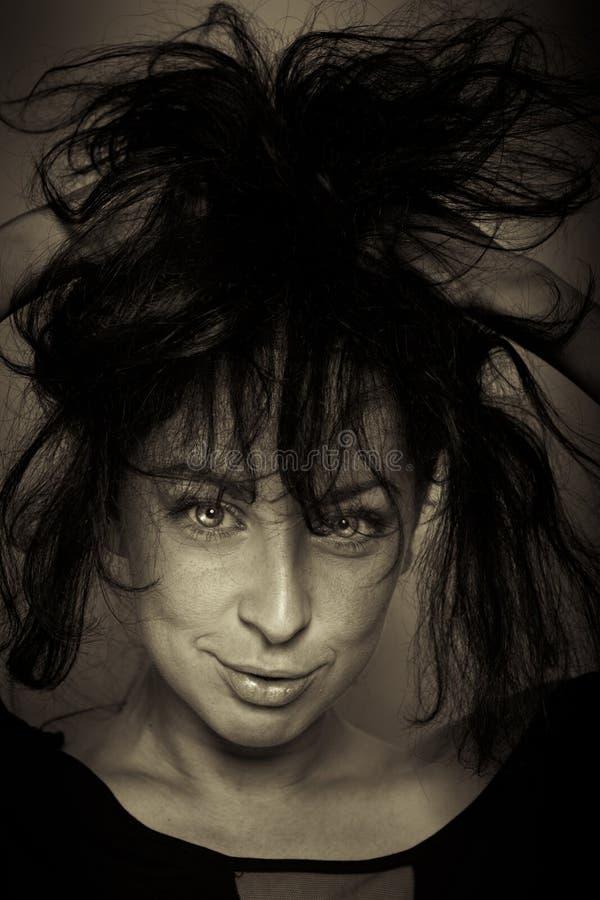 Download Emotion Expression Dark Girl Face Stock Image - Image: 27656759