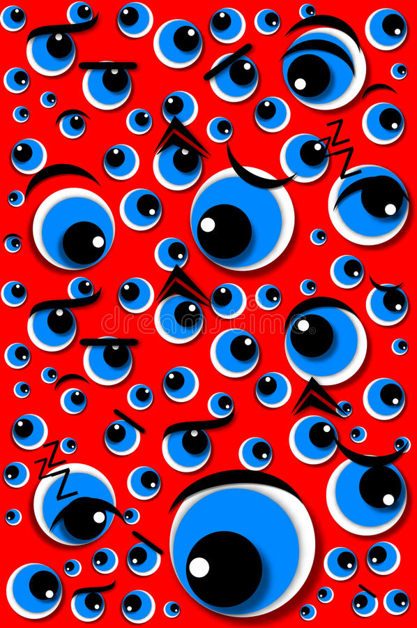 Download Emotion Series Mixed Emotions Eyes Red Stock Illustration - Illustration of irate, booking: 20460692