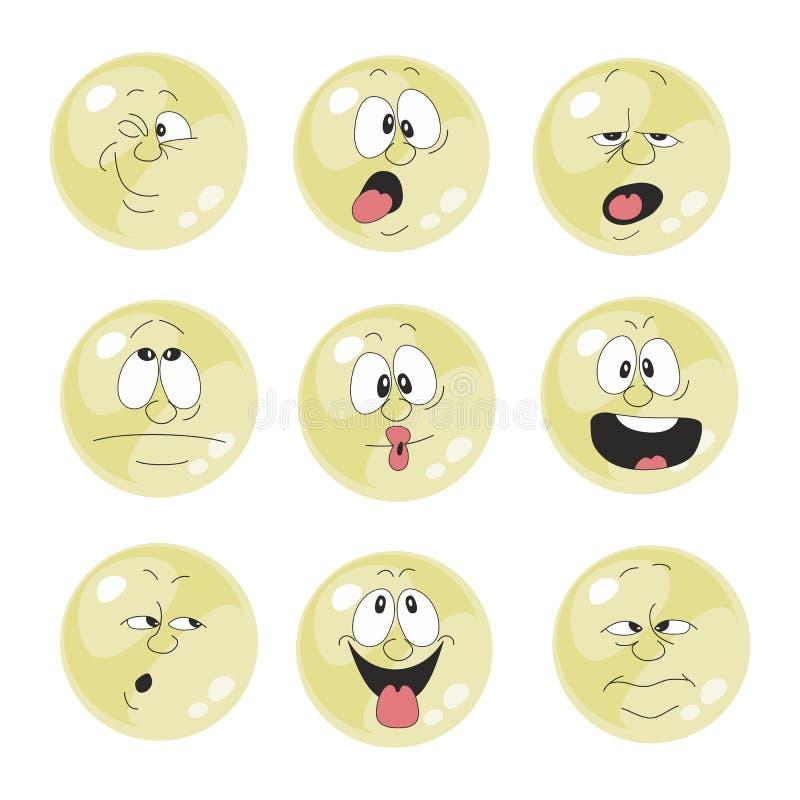 Free Emotion Smiles Yellow Color Set 011 Stock Photos - 30898133