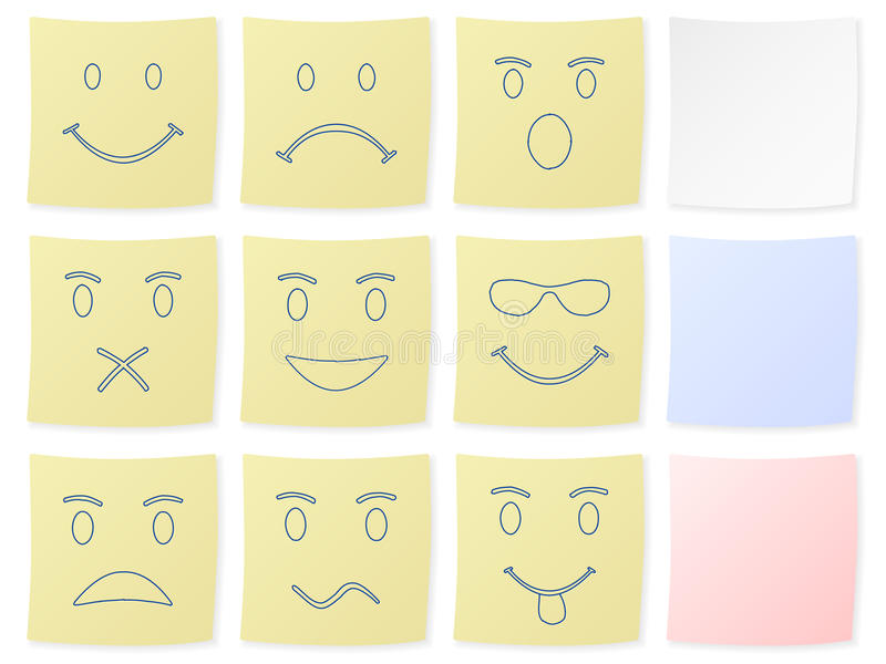 Download Emotion sticker stock vector. Image of shut, blue, angry - 11091749