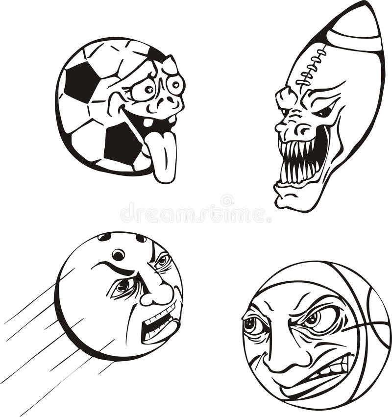 Download Emotiona ball cartoons stock vector. Illustration of bowling - 17444659