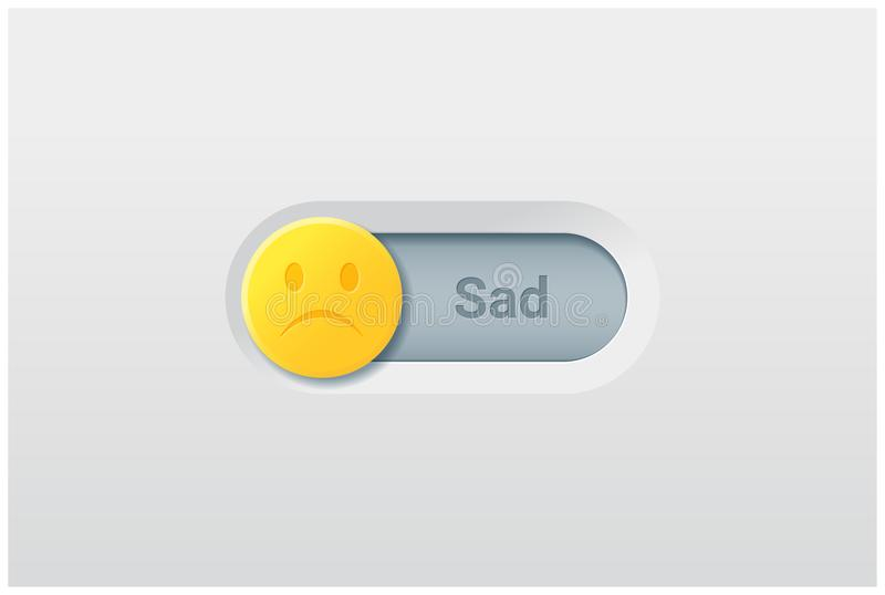 Emotional background with switch control turn off represent sad emotion vector illustration