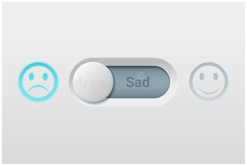 Emotional background with switch control turn off represent sad emotion royalty free illustration