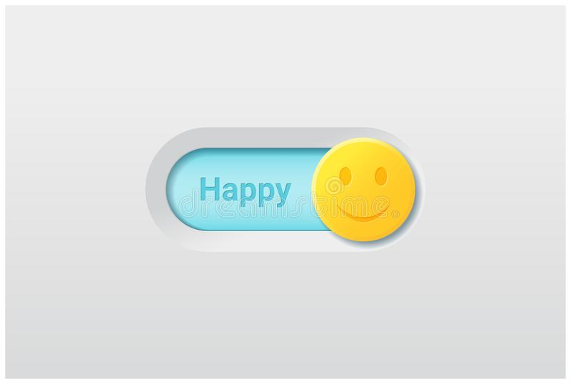 Emotional background with switch control turn on represent happy emotion royalty free illustration