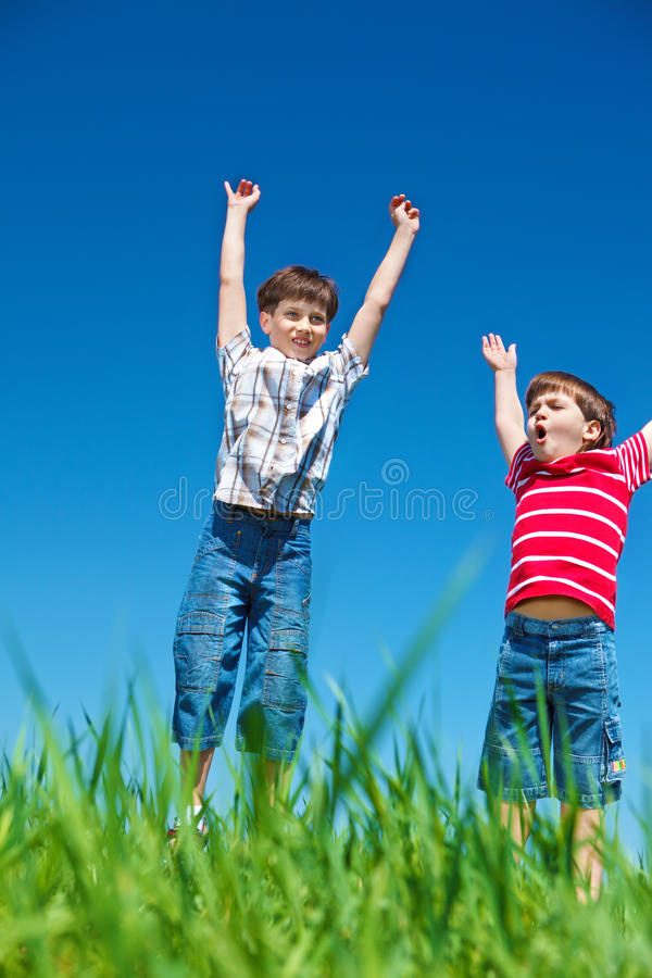 Emotional Boys Royalty Free Stock Images
