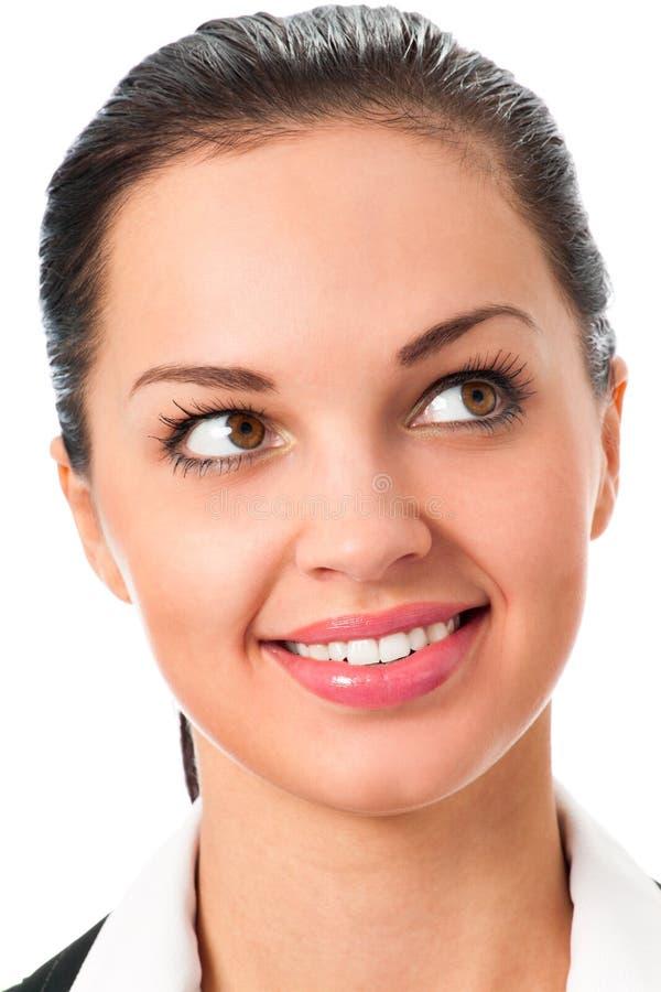 Emotional businesswoman stock photos